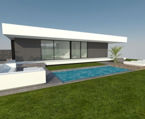 Grundstück inkl. Neubau 725 La Palma